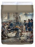 The Hero Of Trafalgar Duvet Cover by William Heysham Overend