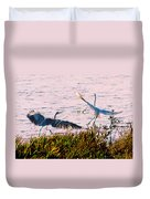 The Heron And The Egret Duvet Cover