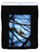 The Hiding Singer. Dunnock Duvet Cover