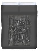 The High Priest Before Pilate [verso] Duvet Cover