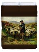 The Highland Shepherd Duvet Cover by Rosa Bonheur