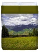 The Hills Are Alive In Vail Duvet Cover