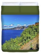 The Hills Of Crater Lake Oregon Duvet Cover