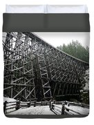 The Historic Kinsol Trestle 3. Duvet Cover