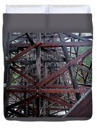 The Historic Kinsol Trestle  Inside View Duvet Cover