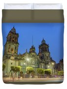 The Historical Mexico City Metropolitan Cathedral Duvet Cover