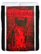 The History Of Fear Duvet Cover