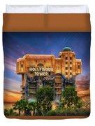 The Hollywood Tower Hotel Disneyland Duvet Cover