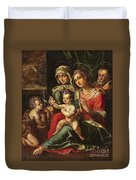 The Holy Family With Saint Anne And Saint John Duvet Cover
