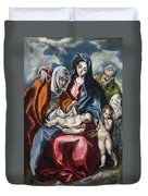 The Holy Family With Saint Anne And The Infant John The Baptist Duvet Cover