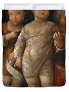 The Holy Family With St John Duvet Cover