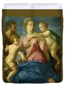 The Holy Family With The Infant Saint John The Baptist, Madonna Stroganoff  Duvet Cover