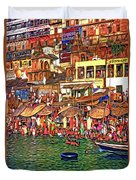 The Holy Ganges - Paint Duvet Cover