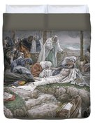 The Holy Virgin Receives The Body Of Jesus Duvet Cover by Tissot