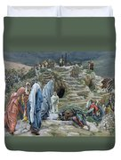 The Holy Women Stand Far Off Beholding What Is Done Duvet Cover