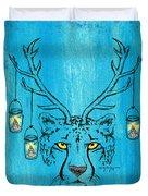 The Horned Cheetah Duvet Cover