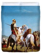 The Horse Of Submission Duvet Cover by Louis Eugene Ginain