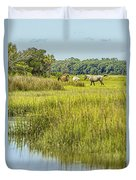 The Horses Of Cumberland Island Duvet Cover