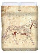 The Horse's Trot Revealed Duvet Cover
