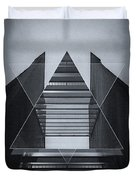 The Hotel Experimental Futuristic Architecture Photo Art In Modern Black And White Duvet Cover