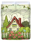 The House At The End Of Storybook Lane Duvet Cover