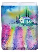 The House By The Lavender Field Duvet Cover