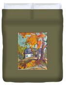 The House In Chervonka Village Duvet Cover