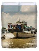 The Houseboat Duvet Cover