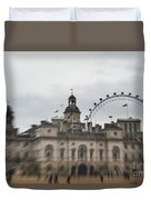 The Household Cavalry Museum Abstract London Abstract Duvet Cover