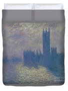 The Houses Of Parliament Stormy Sky Duvet Cover
