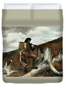 The Hunter And His Dogs Duvet Cover by Winslow Homer