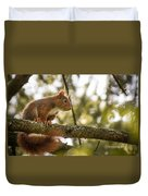 The Hypnotized Squirrel Duvet Cover