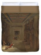 The Hypostyle Hall Of The Great Temple At Abu Simbel Egypt Duvet Cover