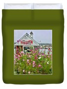 The Ice Cream Store On Bearskin Neck Duvet Cover