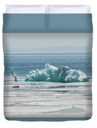 The Ice Elephant Of Silver Islet Duvet Cover