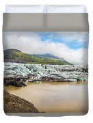 The Ice Wall Iceland Duvet Cover