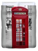 The Iconic London Phonebox Duvet Cover