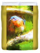 The Impressive Bluebird Duvet Cover