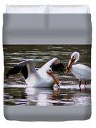 The Impressive Landing Pelican Duvet Cover