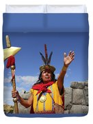 The Inca At Sacsayhuaman Duvet Cover
