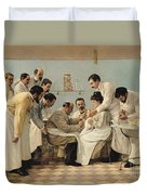The Insertion Of A Tube Duvet Cover by Georges Chicotot