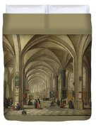 The Interior Of A Gothic Church Looking East   Duvet Cover