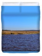 The Intracoastal Waterway In The Georgia Low Country In Winter Duvet Cover