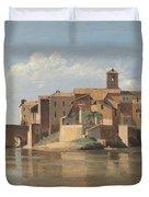 The Island And Bridge Of San Bartolomeo - Rome Duvet Cover
