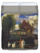 The Island Of Life 1888 Duvet Cover