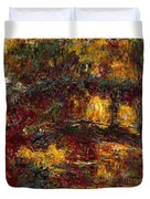 The Japanese Footbridge - Giverny Duvet Cover