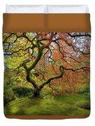 The Japanese Maple Tree In Spring Duvet Cover