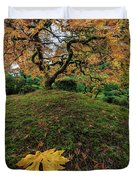 The Japanese Maple Tree In Autumn 2016 Duvet Cover