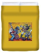 The Jazz Trio Duvet Cover