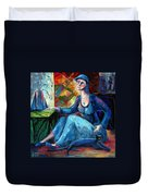 The Jeans Girl. 20 Years Later Duvet Cover